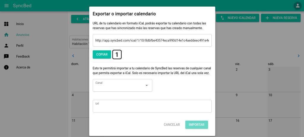 Exportar calenario Syncbed a Expedia