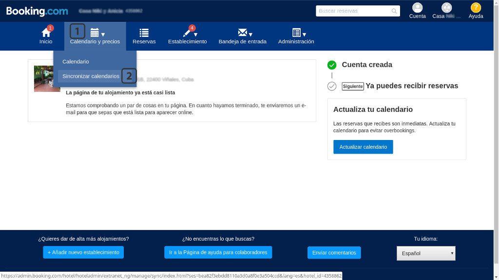 Extranet booking.com